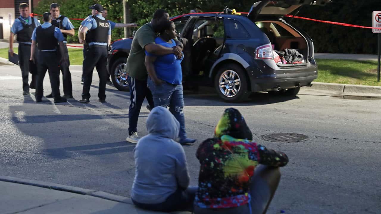 Photo of a crime scene in Oak Park