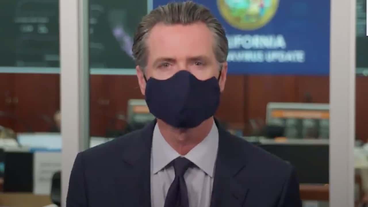 Photo of Gov. Gavin Newsom wearing a mask