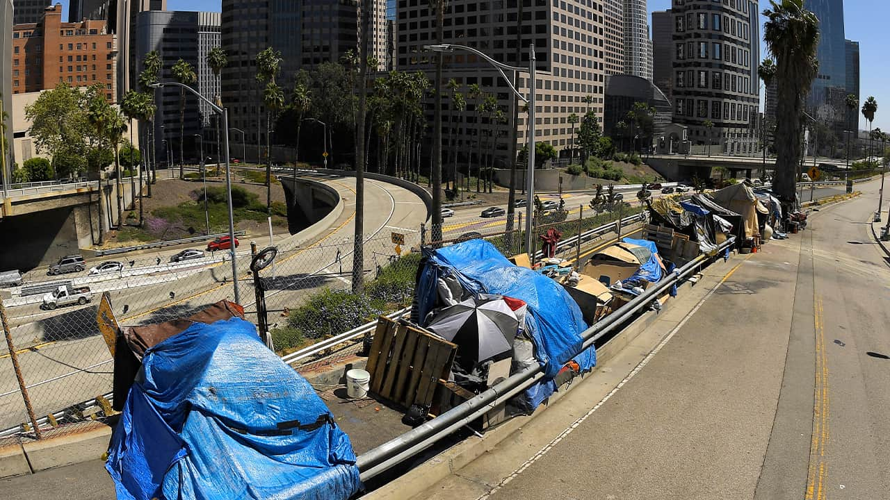 Photo of a homeless camp in LA