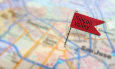 Photo of a map with a marker in Silicon Valley