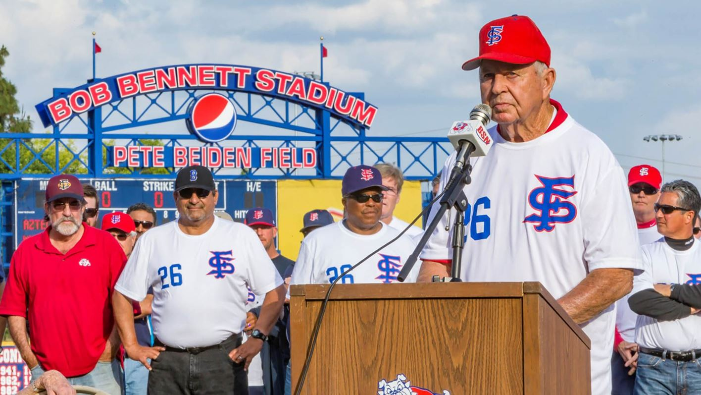Photo of former Fresno State baseball coach Bob Bennett, who died Sunday, May 31, 2020
