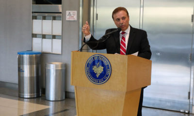 Image of Fresno City Councilman Garry Bredefeld at City Hall news conference on school reopenings