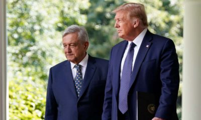 Photo of President Donald Trump and Mexican President Andres Manuel Lopez Obrador