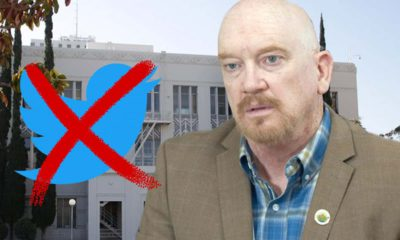 Composite of Steve Brandau and an X'd out Twitter symbol