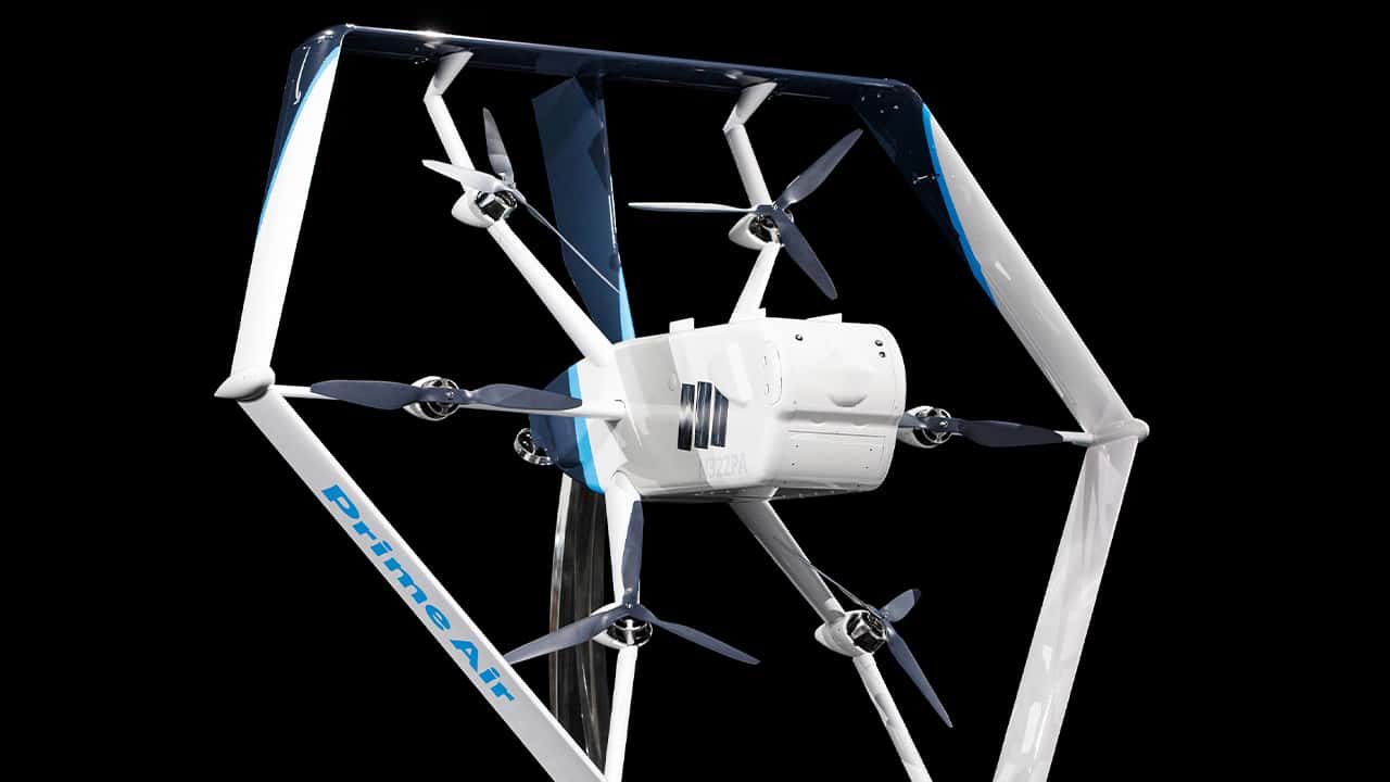 Photo of an Amazon drone