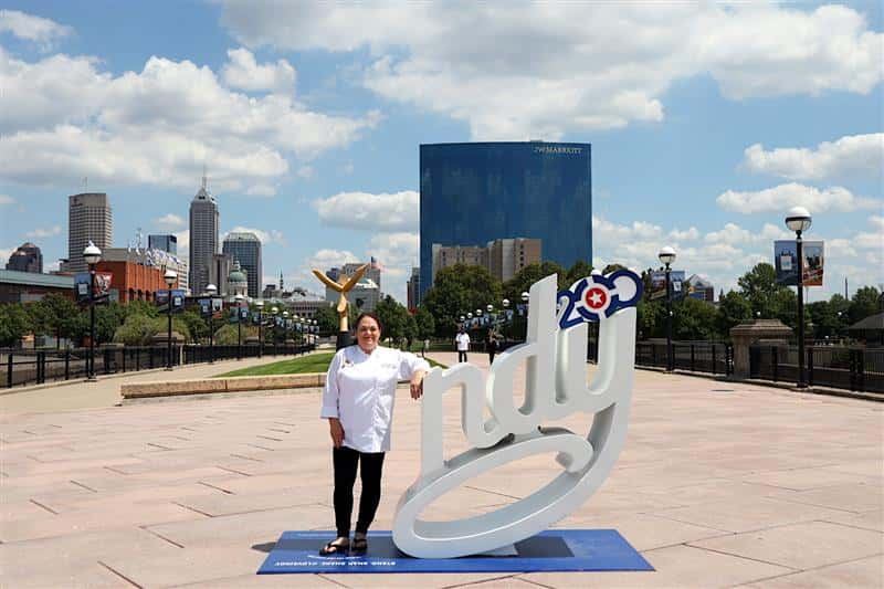 Photo of Merced caterer Kelli Fairchild-Cochran in Indianapolis.