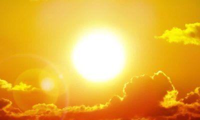 Photo of a blazing sun symbolizing a heatwave