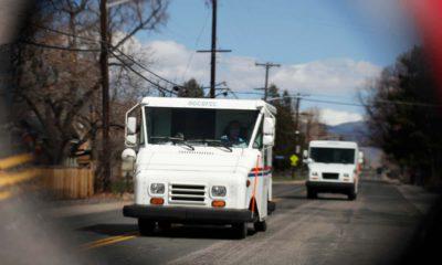 Photo of postal trucks