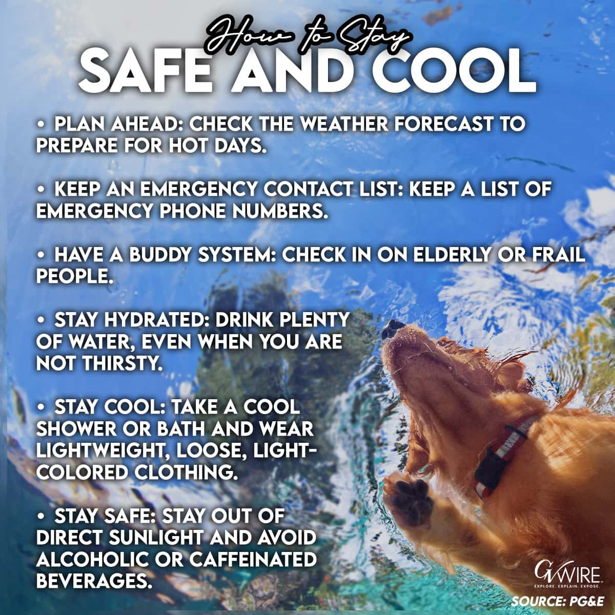 Tips on staying safe and cool during a heatwavean