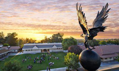 Aerial view of Immanuel Schools campus in Reedley, California