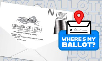 """Composite image of a vote-by-mail ballot and the words """"Where's My Ballot?"""""""