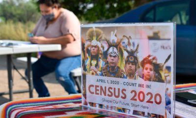 Photo of a census sign