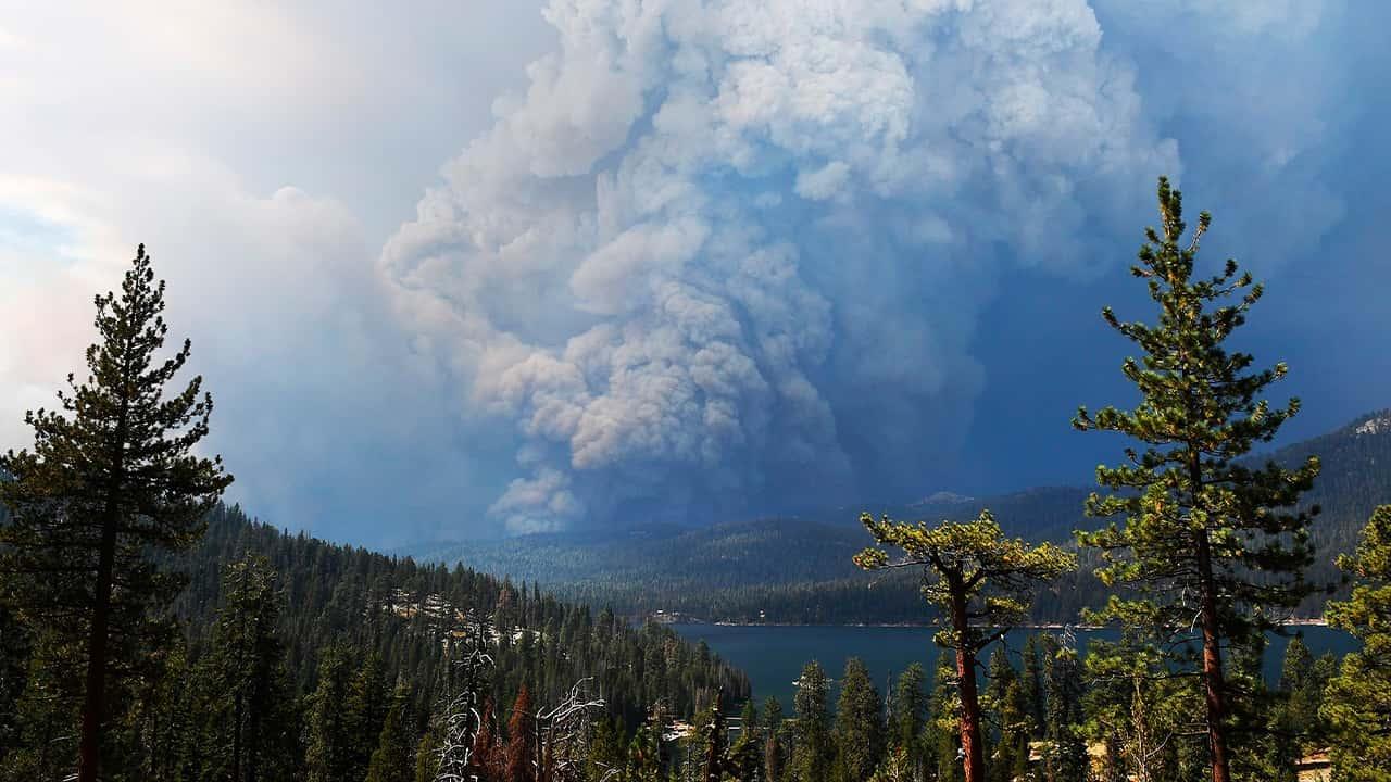 Photo of the Creek Fire smoke