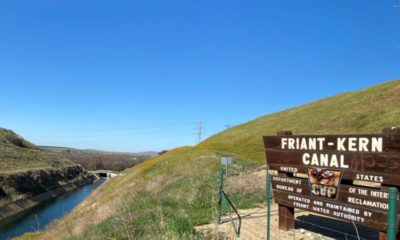 Photo of the Friant-Kern Canal below Pine Flat Dam