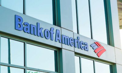 Photo of a Bank of America building with the corporate logo
